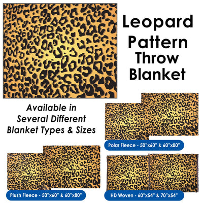 Leopard Pattern - Throw Blanket / Tapestry Wall Hanging