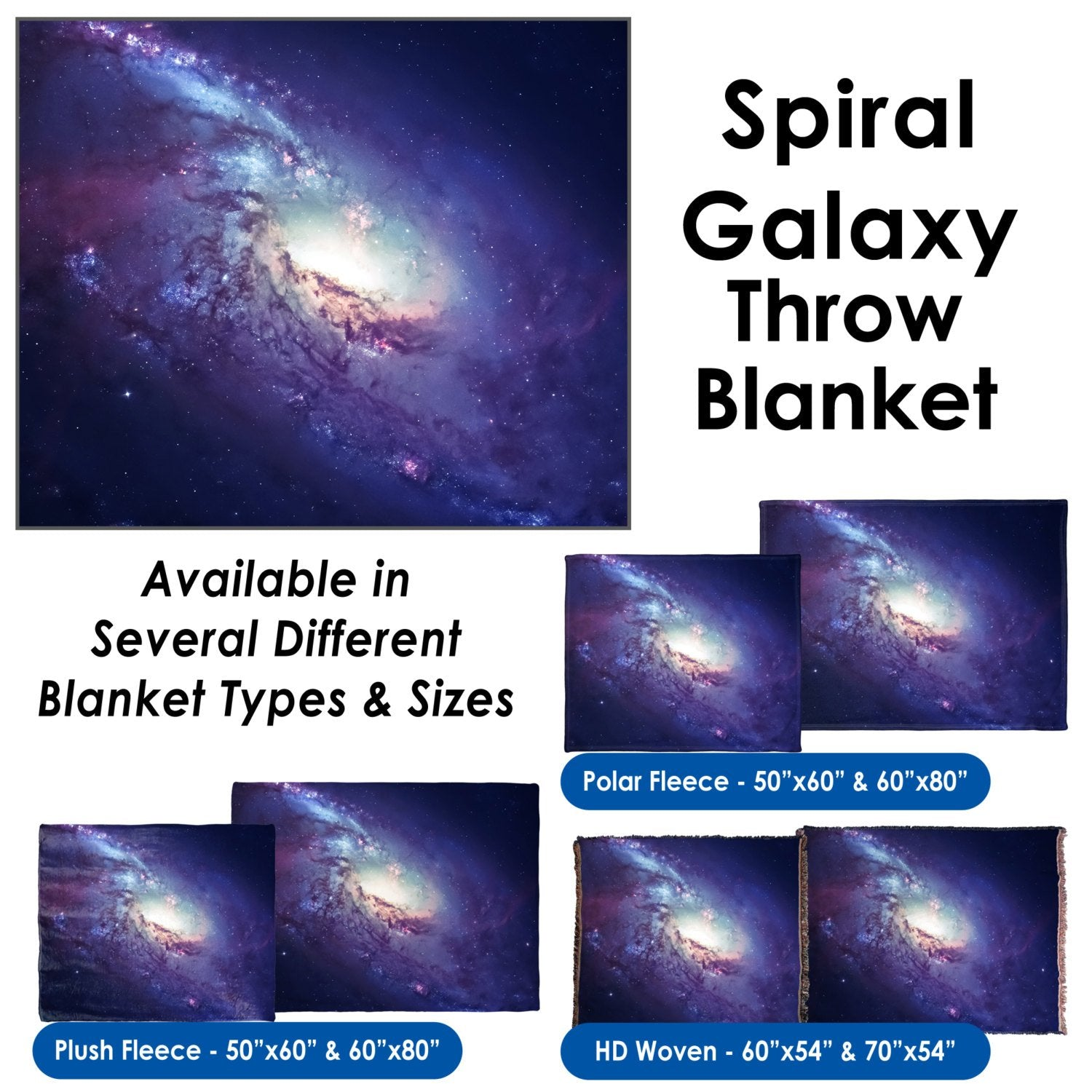 Spiral Galaxy – Throw Blanket / Tapestry Wall Hanging