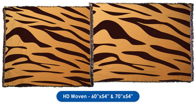 Tiger Stripes - Throw Blanket / Tapestry Wall Hanging