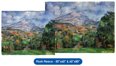 "Paul Cézanne's ""Montagne Sainte-Victoire"" Throw Blanket / Tapestry Wall Hanging"