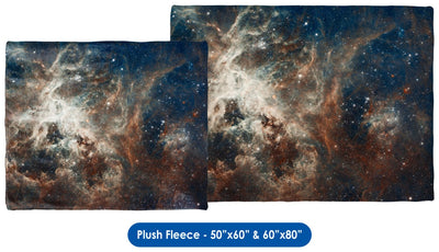 Tarantula Nebula - Throw Blanket / Tapestry Wall Hanging