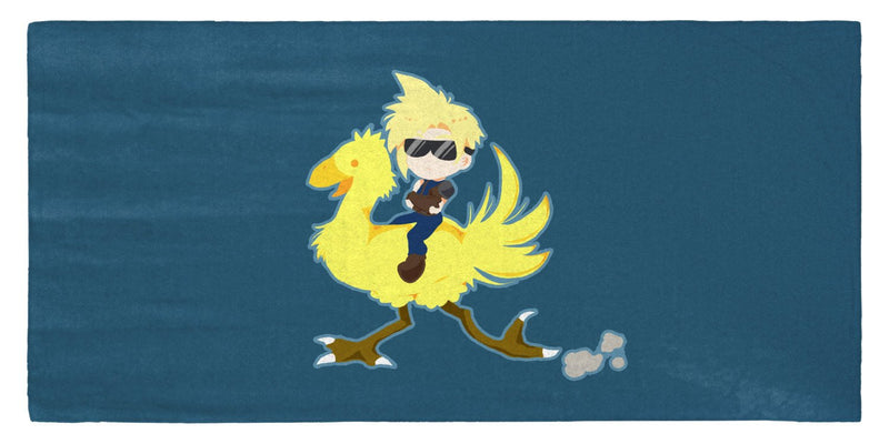 "Chocobo Rider Cloud 30"" x 60"" Microfiber Beach Towel"