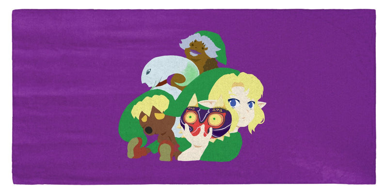 "Majora's Mask Illustration 30"" x 60"" Microfiber Beach Towel"