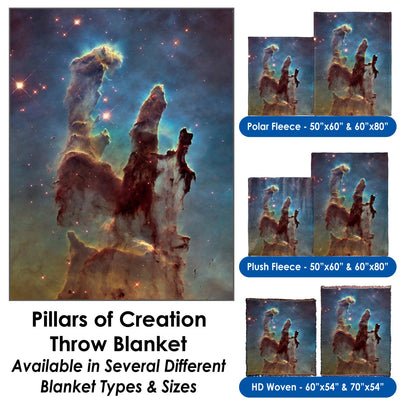 Pillars of Creation - Throw Blanket / Tapestry Wall Hanging