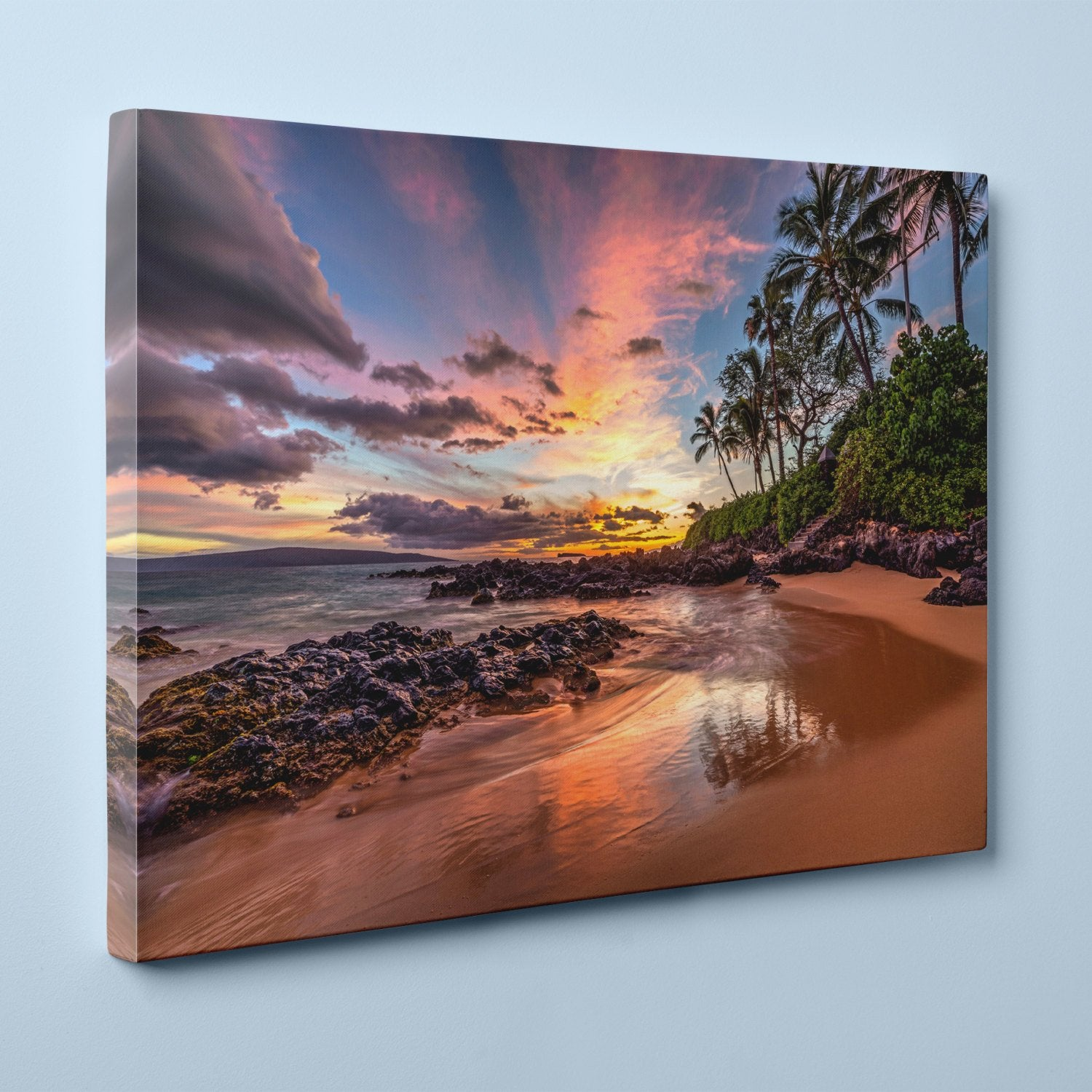 "Hawaiian Sunset at Secret Cove, Maui (16"" x 24"") - Canvas Wrap Print"