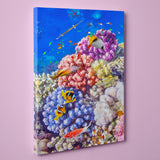 "Caribbean Coral and Tropical Fish, Underwater Photo (12"" x 18"") - Canvas Wrap Print"