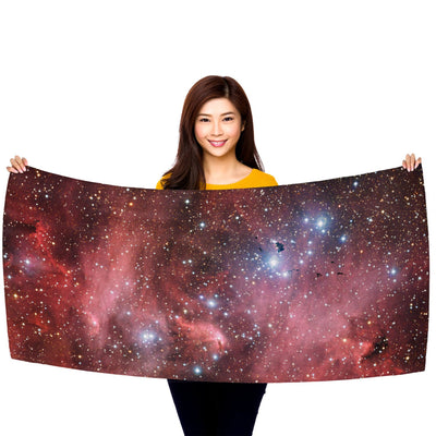 "Running Chicken Nebula 30"" x 60"" Microfiber Beach Towel"