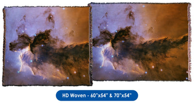 Fairy of Eagle Nebula - Throw Blanket / Tapestry Wall Hanging