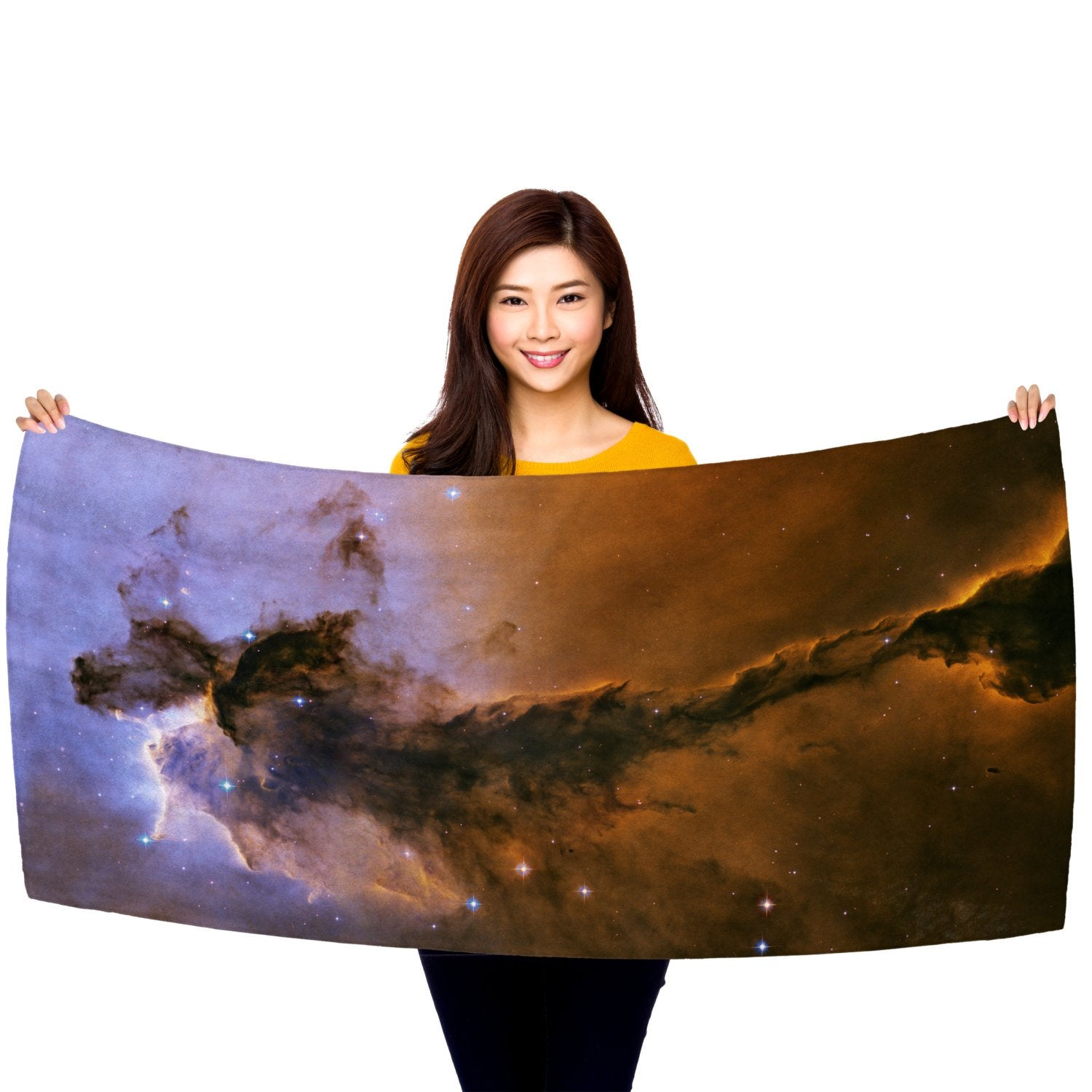 "Fairy of Eagle Nebula 30"" x 60"" Microfiber Beach Towel"