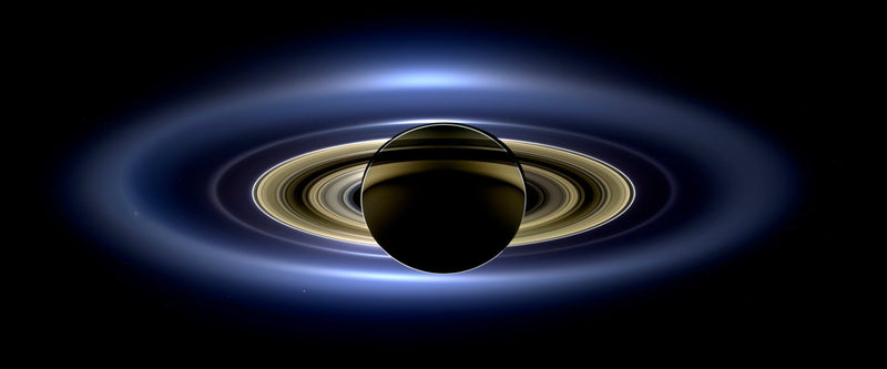 "Cassini, Saturn in Silhouette (16"" x 24"") - Canvas Wrap Print"