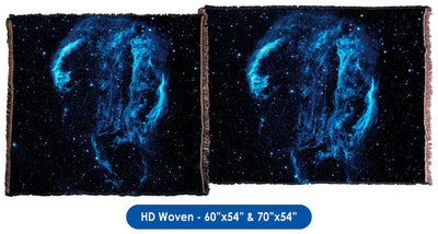 Cygnus Loop Nebula - Throw Blanket / Tapestry Wall Hanging