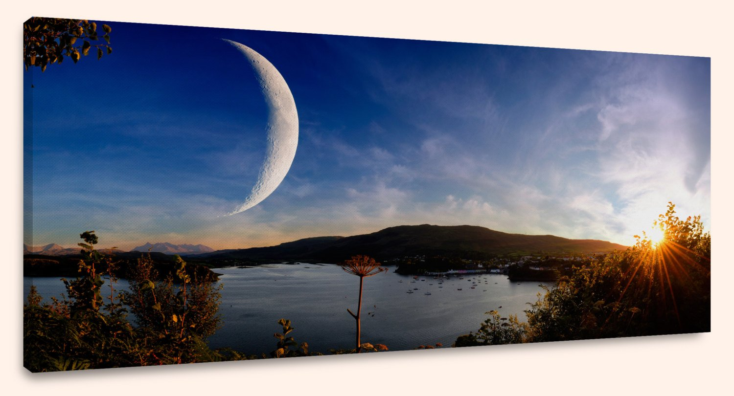 "Sunset on Another World, Panorama (10"" x 24"") - Canvas Wrap Print"