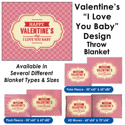 Valentine's Day - I Love You Baby Throw Blanket / Tapestry Wall Hanging