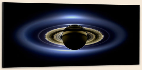 "Cassini, Saturn in Silhouette (20"" x 48"") - Canvas Wrap Print"
