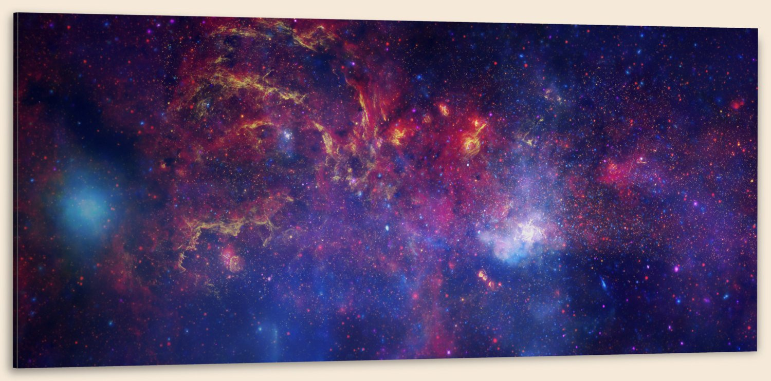 "Center of the Milky Way Galaxy IV, Composite (32"" x 48"") - Canvas Wrap Print"