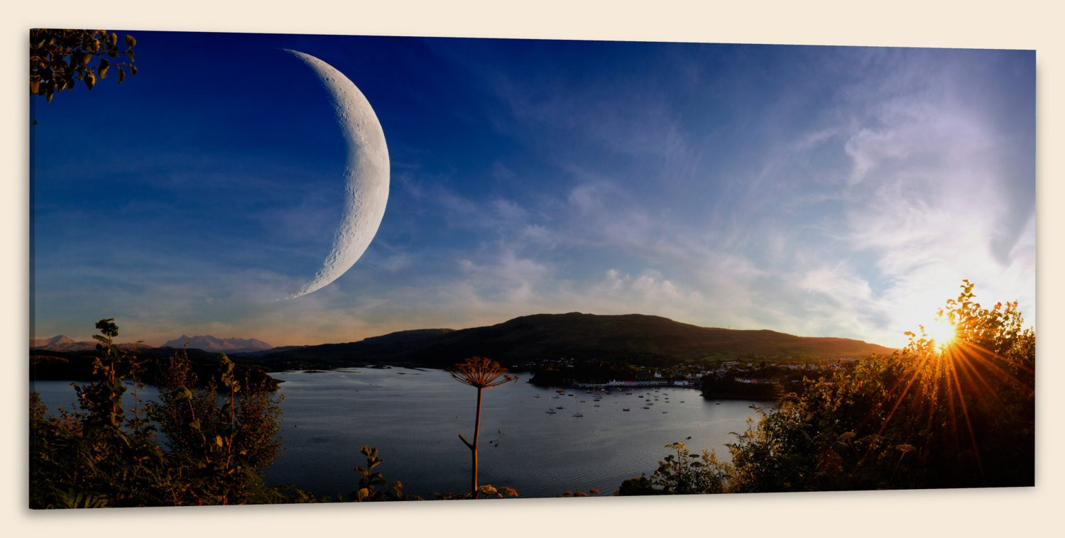 Sunset on Another World, Panorama (20″ x 48″) – Canvas Wrap Print