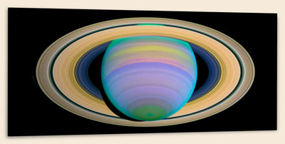 "Saturn's Rings in Ultraviolet Light (20"" x 48"") - Canvas Wrap Print"