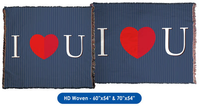 Valentine's Day - I Heart You (For Him) Throw Blanket / Tapestry Wall Hanging