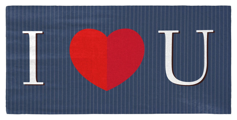"Valentine's Day - I Heart You (For Him) 30"" x 60"" Microfiber Beach Towel"