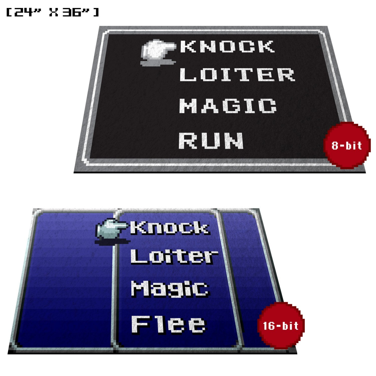 "Retro RPG Menu 24""x 36"" Doormat Welcome Floormat"