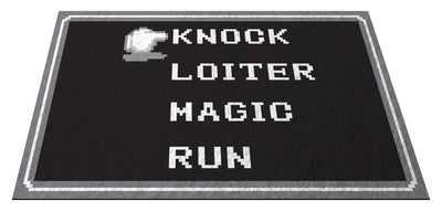 "Retro RPG Menu 36"" x 60"" Doormat Welcome Floormat"