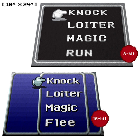 "Retro RPG Menu 18"" x 24"" Doormat Welcome Floormat"