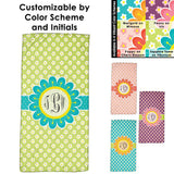 Blooming Spring Monogrammed Beach Towel