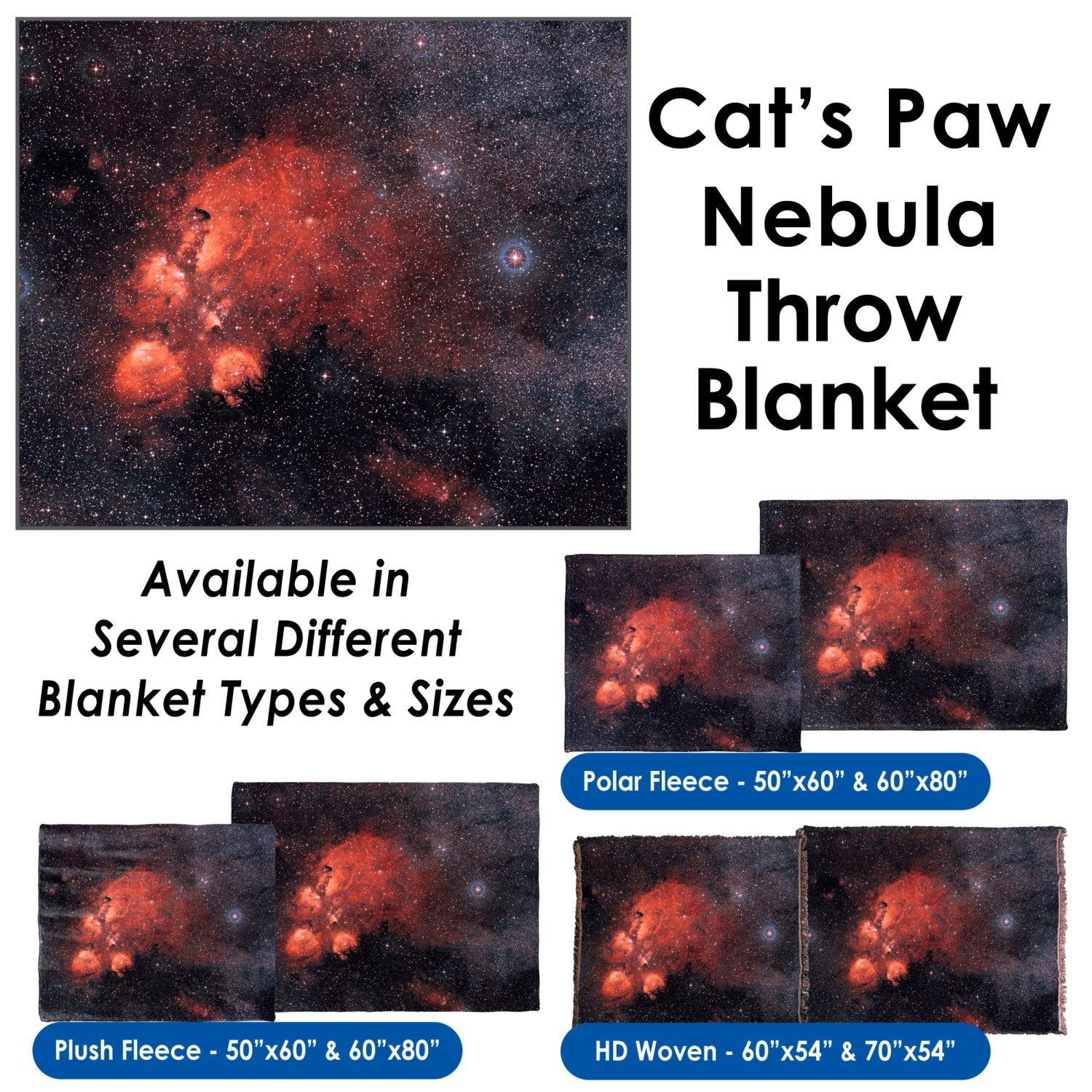 Cat's Paw Nebula - Throw Blanket / Tapestry Wall Hanging