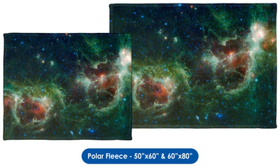 Heart and Soul Nebulae - Throw Blanket / Tapestry Wall Hanging