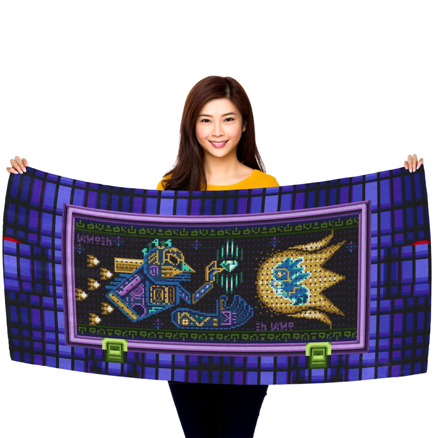"Hidden Palace Prophecy Mural 30"" x 60"" Microfiber Beach Towel"