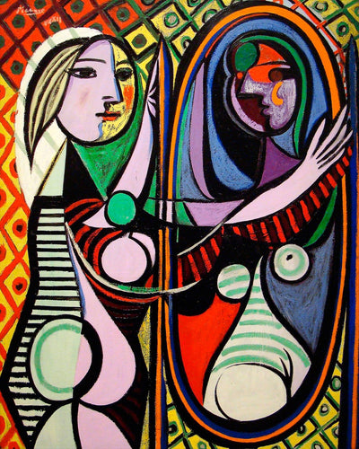 "Pablo Picasso's Girl Before A Mirror (16"" x 20"") - Canvas Wrap Print"
