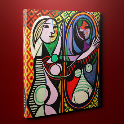 "Pablo Picasso's Girl Before A Mirror (14"" x 18"") - Canvas Wrap Print"