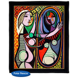 Pablo Picasso's Girl Before A Mirror - Throw Blanket / Tapestry Wall Hanging