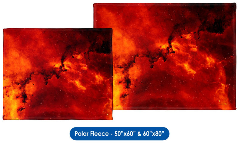 Rosette Nebula - Throw Blanket / Tapestry Wall Hanging