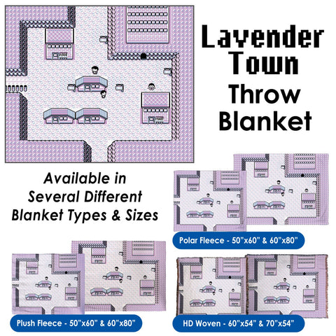 Lavender Town - Throw Blanket / Tapestry Wall Hanging