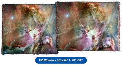 Different Slant on Orion Nebula - Throw Blanket / Tapestry Wall Hanging
