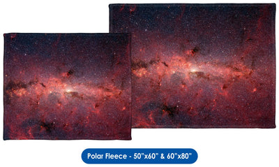 Infrared View of Milky Way Core Regions - Throw Blanket / Tapestry Wall Hanging