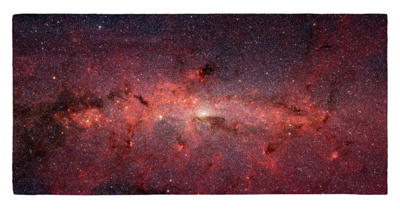"Infrared View of Milky Way Core Regions 30"" x 60"" Microfiber Beach Towel"