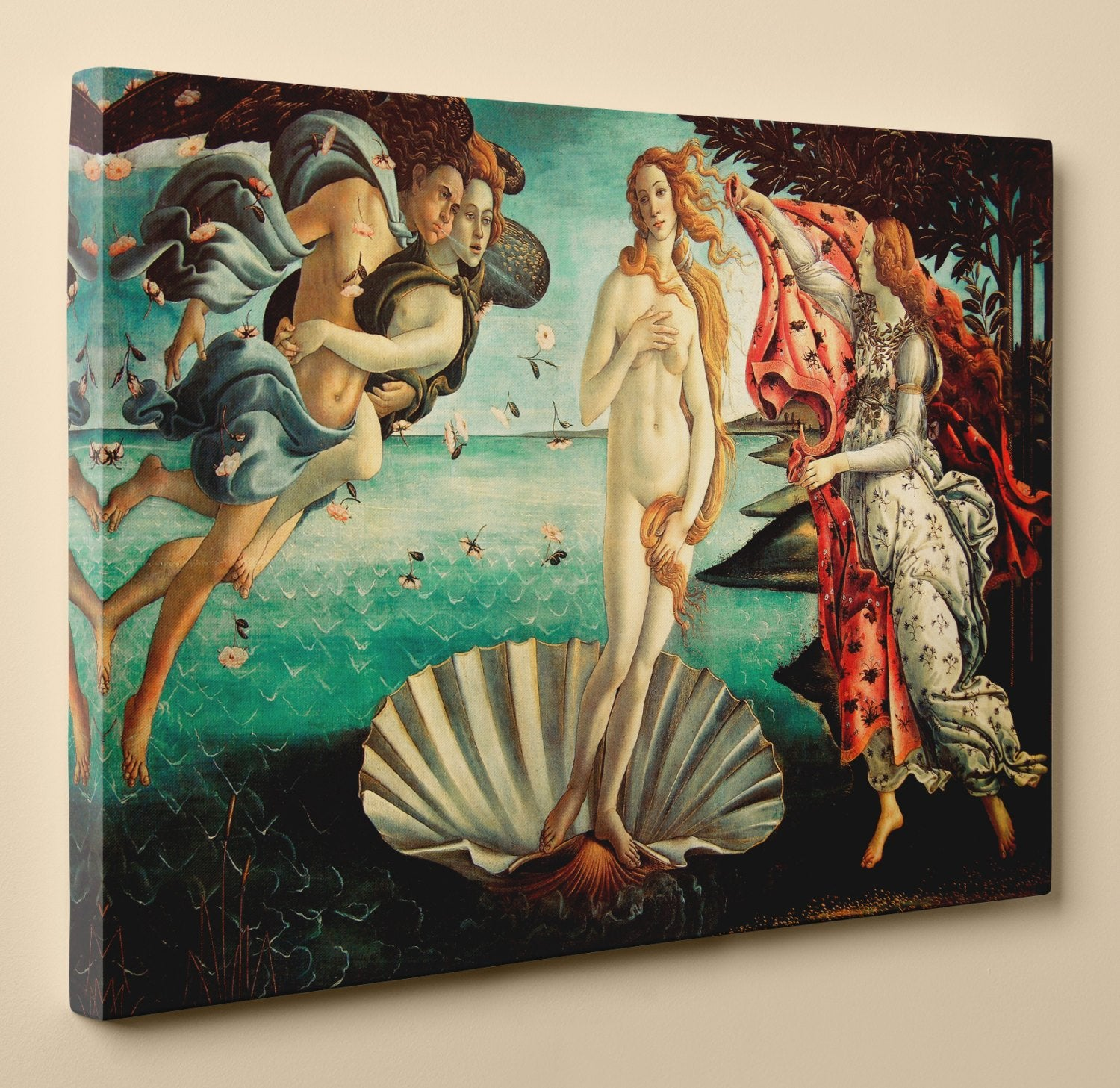 The Birth of Venus by Sandro Botticelli - Canvas Print, 18 by 12 Inch