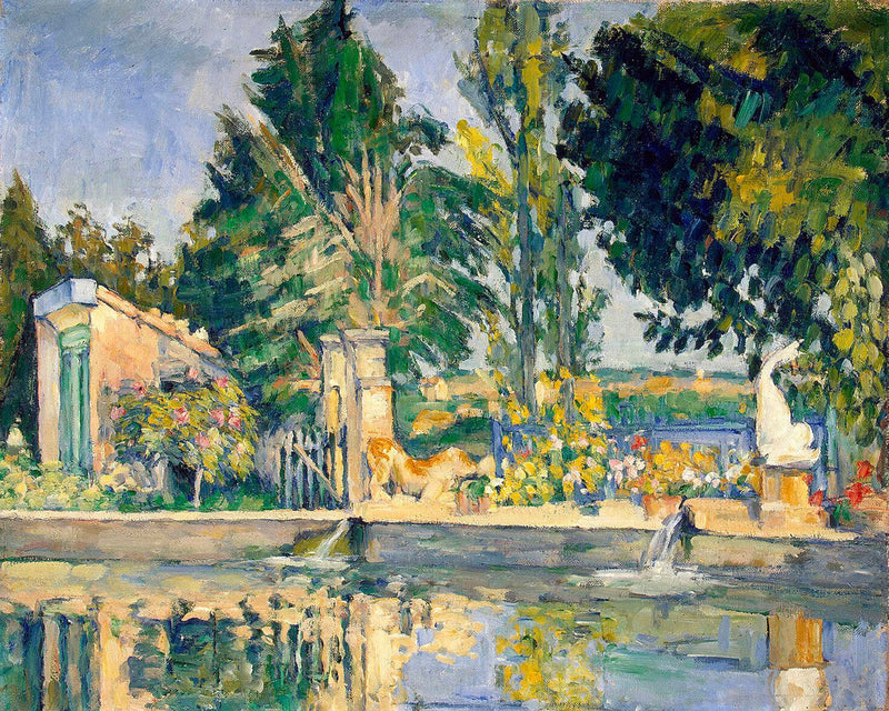 "Paul Cézanne's ""Jas de Bouffan, the Pond"" (14"" x 18"") - Canvas Wrap Print"
