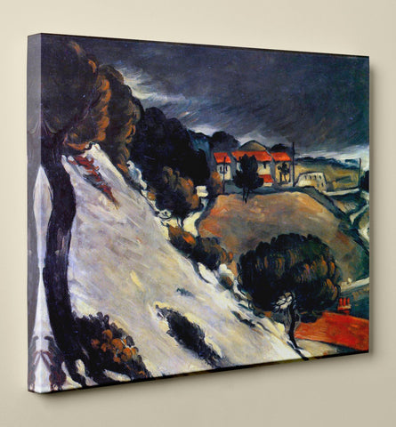 "Paul Cézanne's ""L'Estaque, Melting Snow"" (14"" x 18"") - Canvas Wrap Print"