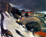"Paul Cézanne's ""L'Estaque, Melting Snow"" (11"" x 14"") - Canvas Wrap Print"