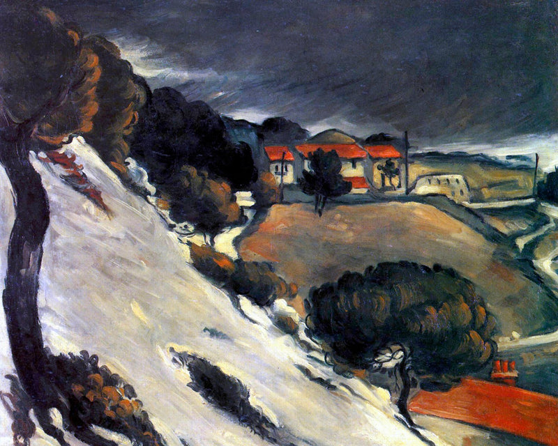 "Paul Cézanne's ""L'Estaque, Melting Snow"" (16"" x 20"") - Canvas Wrap Print"