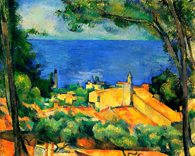 "Paul Cézanne's ""L'Estaque with Red Roofs"" (11"" x 14"") - Canvas Wrap Print"