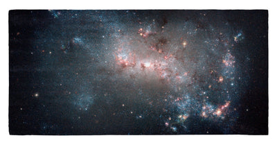 "Starburst in NGC 4449 30"" x 60"" Microfiber Beach Towel"