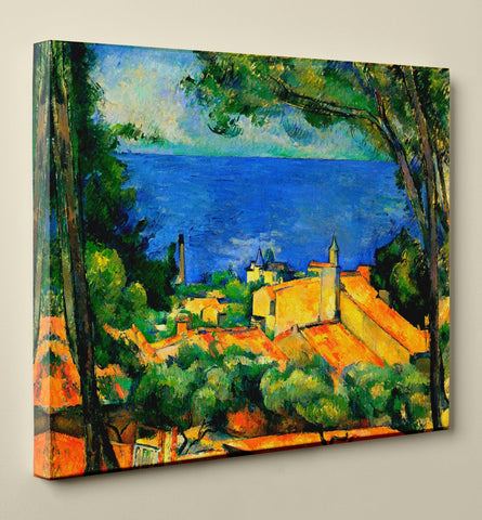 "Paul Cézanne's ""L'Estaque with Red Roofs"" (24"" x 30"") - Canvas Wrap Print"