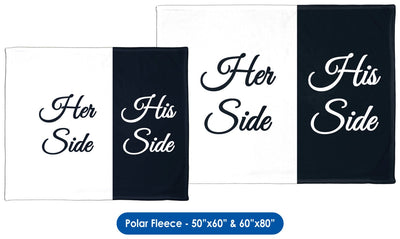 Her Side/His Side Throw Blanket / Tapestry Wall Hanging