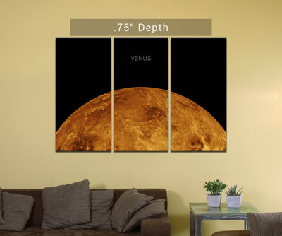 "Planet Venus - 3 Canvas Split (.75"" Depth)"