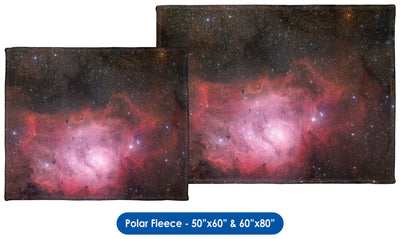 Lagoon Nebula - Throw Blanket / Tapestry Wall Hanging