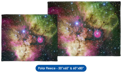 NGC 2467 and Surroundings - Throw Blanket / Tapestry Wall Hanging